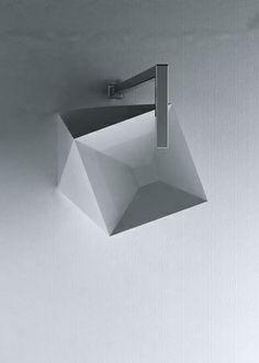 Meneghello Paolelli Associati for ArtCeram | SHARP washbasin (arial view)