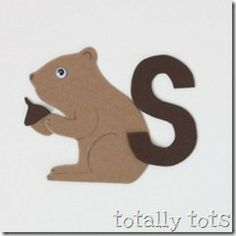 letter s crafts for preschoolers - squirrel/ acorn crafts Letter S Activities, Alphabet Letter Crafts, Abc Crafts, Preschool Letters, Daycare Crafts, Classroom Crafts, Preschool Activities, Letter Art, Letter Tracing