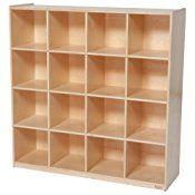 Wood Designs WD50916 (16) Big Cubby Storage, 49 x 48 x 15″ (H x W x D)