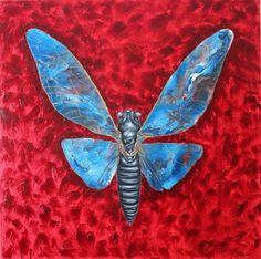 100×100 Tuval Üzeri Yağlı Boya Ağustos Böceği 2013