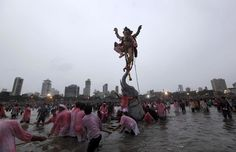 From pedestal to the waters: Ganesh visarjan takes over the country