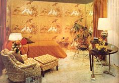 Orange Living Space Design 1970 | Flickr - Photo Sharing!