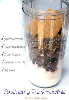 Blueberry Pie Smoothie - FamilyFreshMeals.com