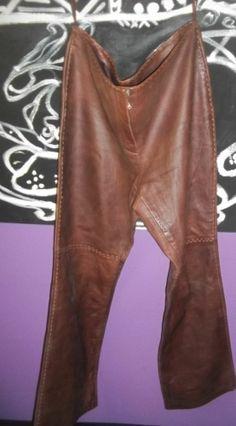 Women's New Soft Lambskin Genuine Leather Pants Designer Wear 14 Ladies sz