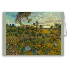 Sunset at Montmajour by Vincent Van Gogh Greeting Cards
