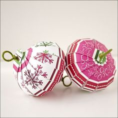 Paper Christmas ornaments --> great for people with babies... and cats...