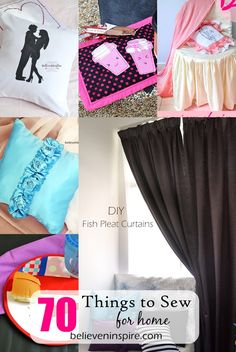 70 Things to Sew for Home (Sewing Ideas) - Believe&Inspire