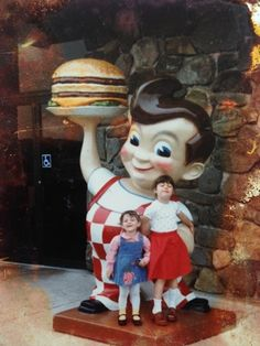Throwback Thursday! Me and my sister at Bob's Big Boy in Western MA. Circa 1982. I am on the left. Nice trip down memory lane! Do you have a good pic for #throwbackthursday?