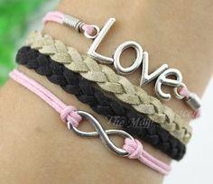 infinity.Love the bracelet.Wax Cords Korean by themagicbracelet, $2.59