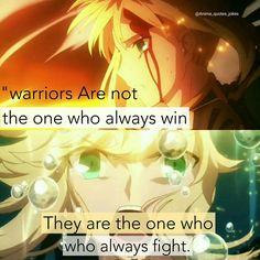 Fate zero Saber  Anime quotes Quote