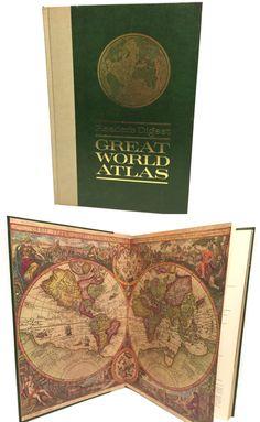 Vintage 1968 Readers Digest Great World Atlas by UpstairsAttic