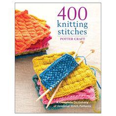 Random House Potter Craft Books '400 Knitting Stitches' Knitting Book