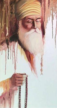 Guru Nanak Photo, Guru Nanak Ji, Nanak Dev Ji, Gurbani Quotes, Sikh Quotes, Guru Nanak Teachings, Lord Shiva Stories, Sikhism Religion, Guru Nanak Wallpaper