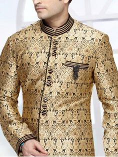 Black & Golden Sherwani