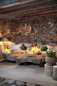 Outdoor Living Space Concepts for each Backyard - Outdoor areas are curtailed and more informal versions of what's taking place inside, which might clarify why most of us are attracted to that even more relaxing, uncluttered area exterior. Outdoor Areas, Outdoor Rooms, Outdoor Decor, Rustic Outdoor, Rustic Patio, Outdoor Lounge, Outdoor Seating, Outdoor Living Spaces, Outside Seating Area