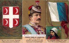 King Milan I Obrenovic of Serbia