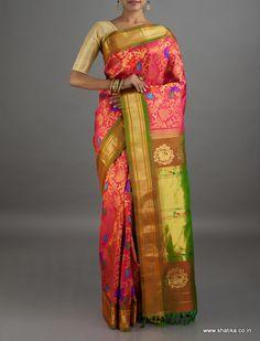 Krushna Full Brocade Wedding Collection #PureZari #PaithaniSilkSaree