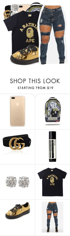 """My name is Kodak but, you know that already...."" by shilohluvsu ❤ liked on Polyvore featuring Gucci, Aesop and Puma"