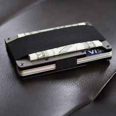 Ridge Wallet Aluminum Wallet + Cash Strap