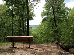 Bench facing a beautiful view in the hills of West Tyson Park.  Photo taken by Kyle Pacatte. For more information about West Tyson, please visit http://www.stlouisco.com/ParksandRecreation/ParkPages/WestTyson #WestTyson
