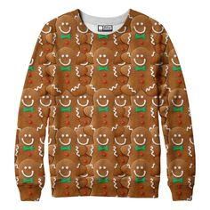 Gingerbread Man Sweatshirt for ugly Sweater Christmas party