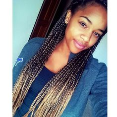 i'm loving the box Braids with the ombre hair color. definitely what I'm going to try!