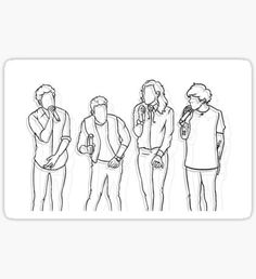 One Direction Tattoos, One Direction Drawings, One Direction Art, One Direction Pictures, Outline Art, Outline Drawings, Easy Drawings, Harry Styles Dibujo, Harry Styles Drawing