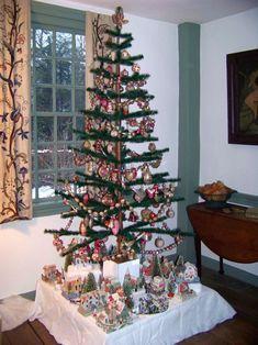 classic Christmas village display
