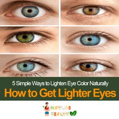 Are you looking for helpful information on how to get lighter eyes? Look up our useful tips on how to achieve it naturally.
