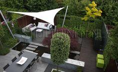 Strakke en moderne tuin.