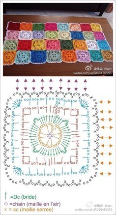 diamond square crochet