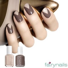 Combination of earth tone colors this afternoon at Fairynails!