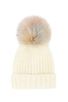 9c48437d0eb755 Winter Beanie Hats for Women FURTALK Womens Warm Knit Fur Bobble Pom ...