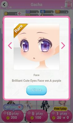 Chibi Eyes, Play 1, Cute Eyes, Anime Eyes, Purple, Pink, Blue, Facial Expressions, Anime Outfits