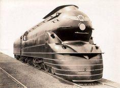 Локомотив,Железная догога Пенсильвании, 1937 год / Art Deco Locomotive, Pennsylvania Rail Road 1937