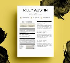 resume template cv template cover letter instant download