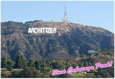 Make your own Hollywood sign xoxo. Read more.   #architecture #design #modern Pinned by www.modlar.com