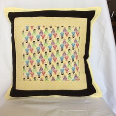 Dancing Dolls Cushion Cover by PatchworkProjects on Etsy