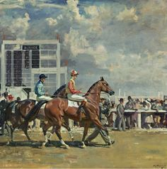 Alfred Munnings,   Going Out at Epsom    Things of beauty I like to see: Photo