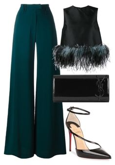 """Untitled #828"" by polyvorebyv ❤ liked on Polyvore featuring Plein Sud, Prada, Christian Louboutin and Yves Saint Laurent"
