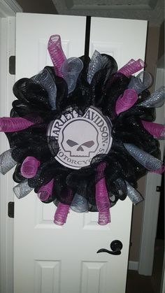 Harley Davidson Wreath by Wreathsbybre on Etsy