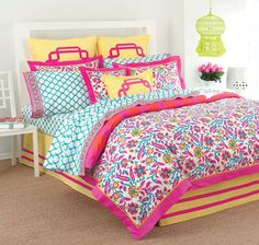 Hope my future hubby is okay with having this Lilly bedding in the bedroom. Actually, he can deal with it. :)