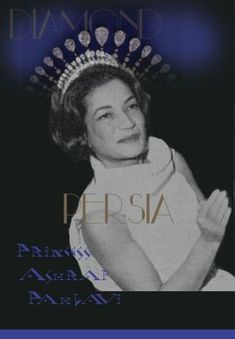 Royal Jewel History: Diamond Drops, Pear-Shaped Diamond Frings #tiara Princess #Ashraf | #Diadem #Imperial Shah #Jewels