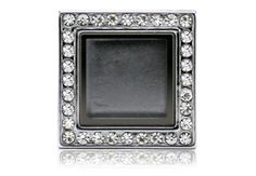 Our Hearts Desire - Square Locket Bracelet Silver with Stones
