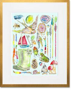 Snips & Snails | bohemian art  Shelly kennedy/drooz studio for Oopsy Daisy .baby boy. Nursery art. Adventure and explore
