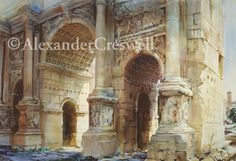 "Rome - The Arch of Septimius Severus<br/>40"" x 60""<br/>2005<br/><a class=""paintingSold""><span>SOLD</span></a>"