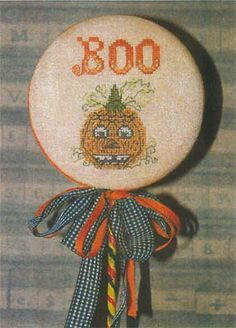 Dames of the Needle - Pumpkin Boo Pick [DOTN131507] - $6.50 : Laurels Stitchery, The best little stitchery shop on the internet!