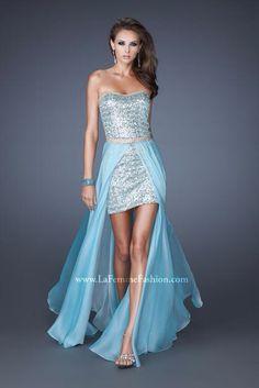 583e0006c6cb Stunning La Femme prom dress with detachable skirt Prom Dresses 2015