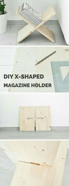 DIY X-Shaped Magazine Holder.