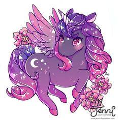 Cute Kawaii Animals, Cute Animal Drawings Kawaii, Cute Drawings, Unicorn Drawing, Unicorn Art, Griffonnages Kawaii, Kawaii Anime, Furry Art, Art Mignon